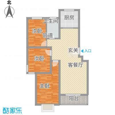 东福嘉苑12.32㎡太原户型