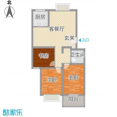 东福嘉苑12.87㎡太原户型