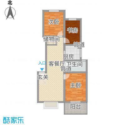 东福嘉苑2.58㎡太原户型