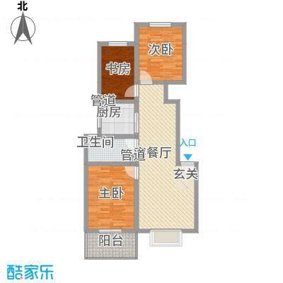 东福嘉苑1.54㎡太原户型