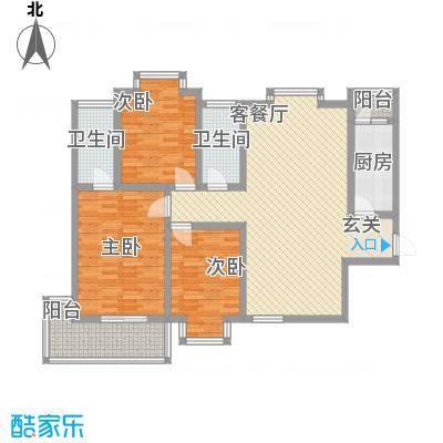 时尚Party13户型3室2厅2卫1厨