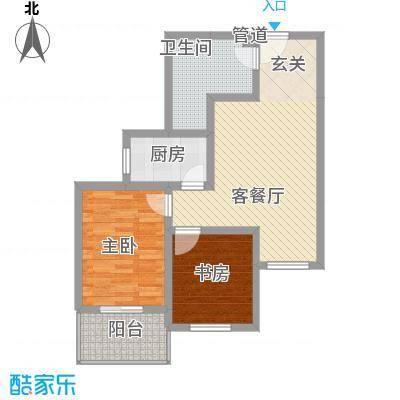 东福嘉苑78.32㎡太原户型