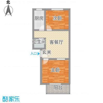 东福嘉苑68.48㎡太原户型