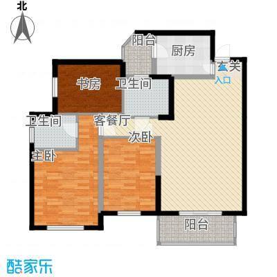职工宿舍楼5580575534cf706a1ab232户型3室2厅2卫1厨