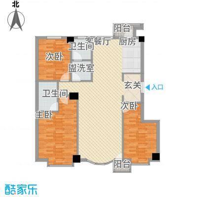 汇利嘉园146.13㎡户型3室2厅1卫1厨