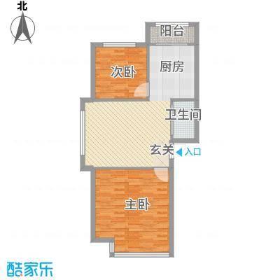 太子山庄34户型2室2厅1卫1厨