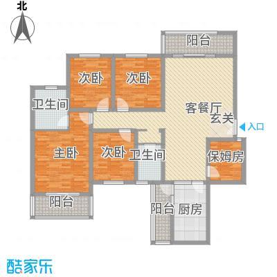 科龙物业3户型4室2厅2卫1厨