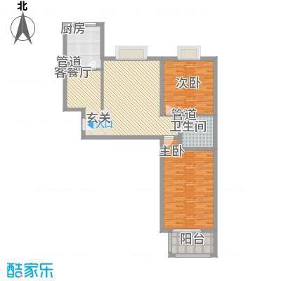 欣中富丽城138.00㎡138户型2室2厅1卫1厨