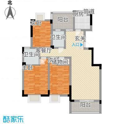 永同昌大厦信合御园3居户型3室2厅2卫1厨