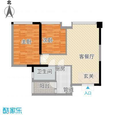 雅居乐锦官城户型2室2厅2卫1厨
