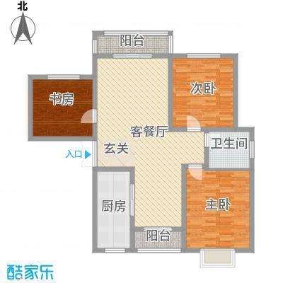 建发环中楼6户型3室2厅2卫1厨