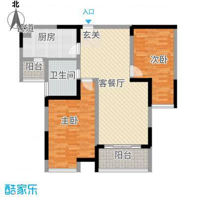 龙山仓储区2发户型2室2厅1卫1厨