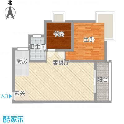 文园新村131326户型2室2厅1卫1厨