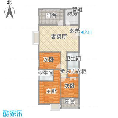 龙山仓储区户型3室2厅2卫1厨