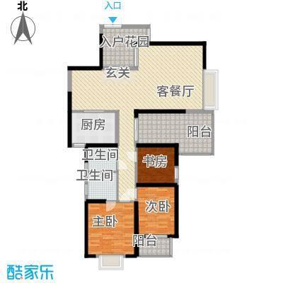 海滨东区户型2室2厅1卫1厨