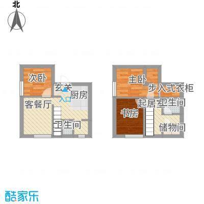锦华银座61.00㎡复式户型3室2厅2卫1厨