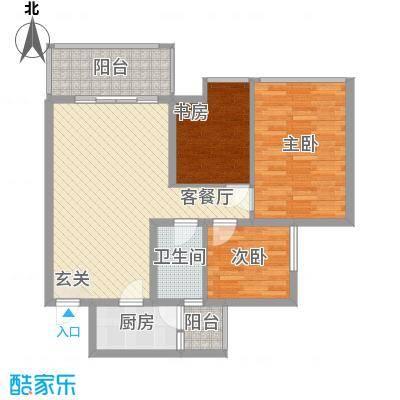阳鸿园28户型3室2厅2卫1厨
