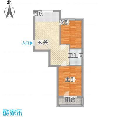 元兴・理想新城76.80㎡B1户型