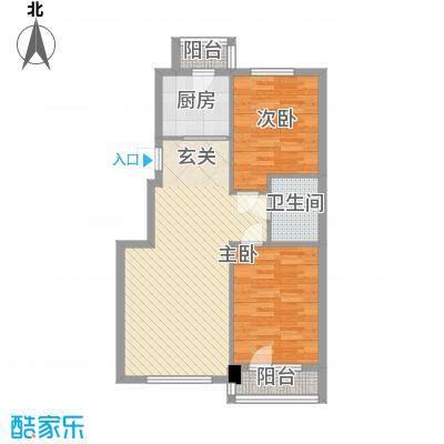 元兴・理想新城87.35㎡B1户型