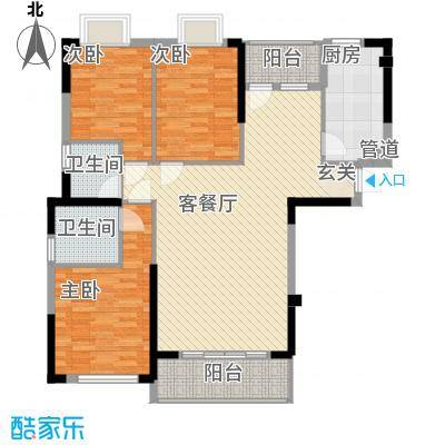 海滨东区户型3室2厅2卫1厨