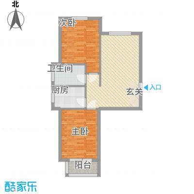 元兴・理想新城84.52㎡B1户型