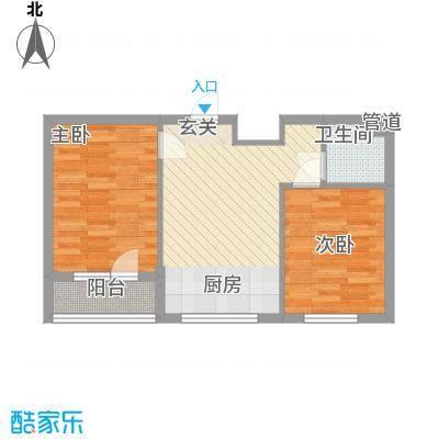 元兴・理想新城64.40㎡B1户型