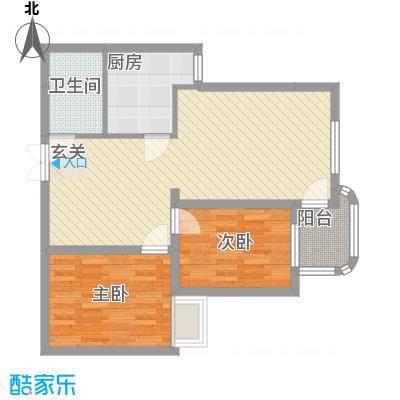 后炉祥福阁18户型2室2厅1卫1厨