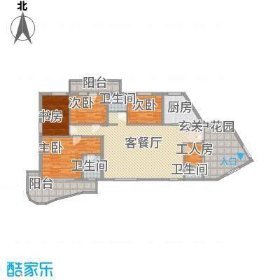 东渡华城17.00㎡户型3室