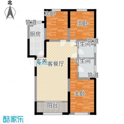 东渡华城3居户型3室2厅2卫1厨