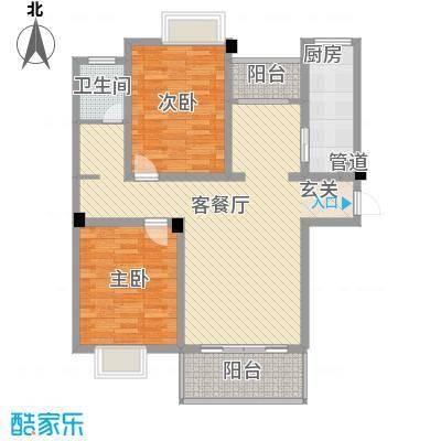 壹品茗筑114.12㎡C1户型2室2厅1卫