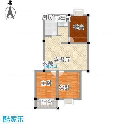 正侨花园户型3室2厅