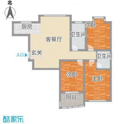 晶石科技创业中心137.80㎡户型3室2厅2卫