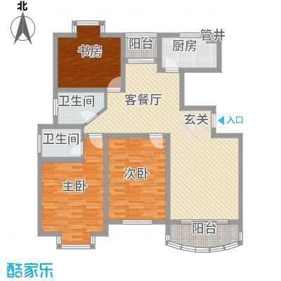 晶石科技创业中心135.00㎡户型3室2厅2卫