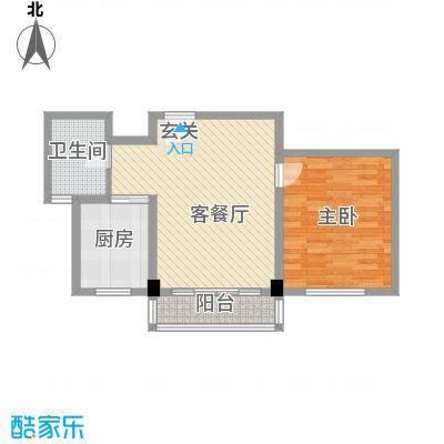 晶石科技创业中心75.00㎡户型1室2厅1卫