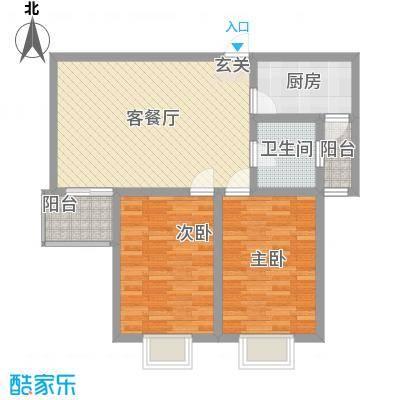 新馨家园户型2室1厅1卫1厨