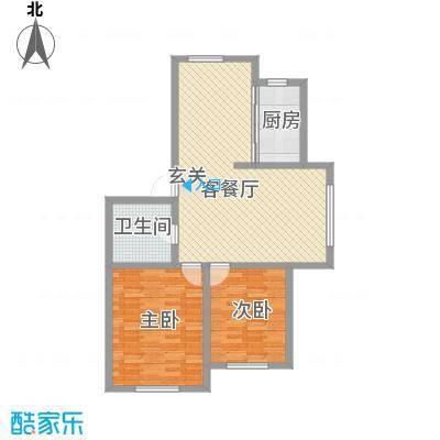 龙逸花园11.66㎡2期C组团户型2室2厅1卫