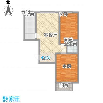居美颐园6.70㎡F-01221户型2室2厅1卫