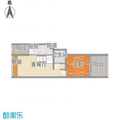 龙湖MOCO中心12户型1室2厅1卫1厨