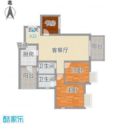 江与城景上时光85.00㎡户型3室