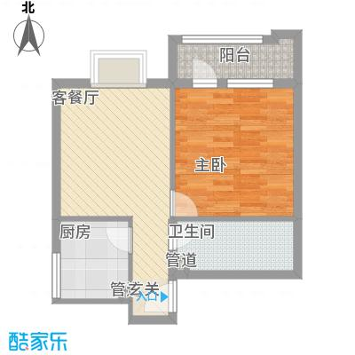 首座绿洲61.80㎡01/12户型1室1厅1卫1厨