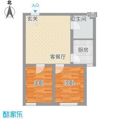 溪东社区22户型2室2厅1卫1厨