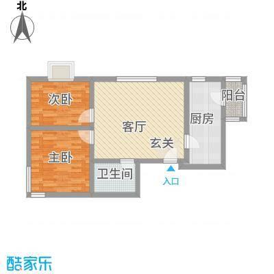 广福家园87.00㎡户型2室1厅1卫