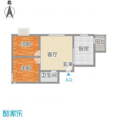 广福家园户型2室1厅1卫