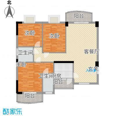 财富中心15077894654ca14f12dcd30户型3室2厅2卫1厨