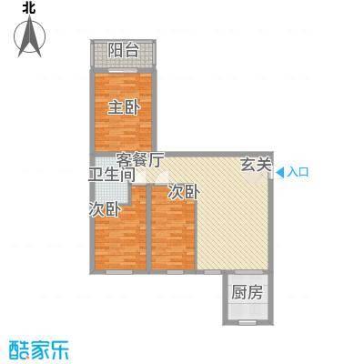 东方名筑13.14㎡C户型3室1厅1卫1厨