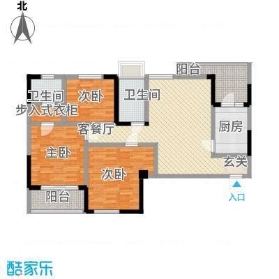赛达国际11.80㎡1#3#A1户型3室2厅2卫1厨