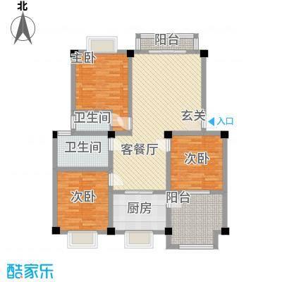鹤北一街坊户型3室1厅2卫1厨