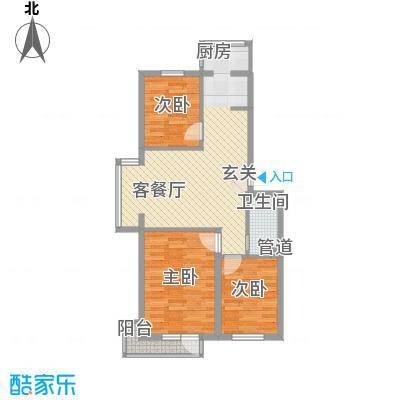 塘荣公寓户型3室2厅2卫1厨