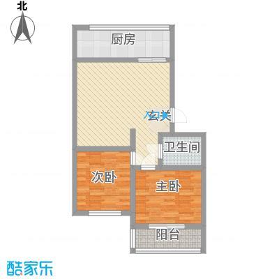 枣苑小区84.12㎡1户型2室1厅1卫1厨