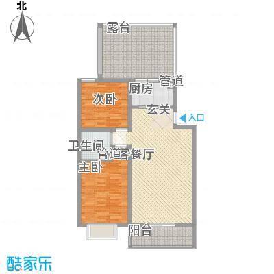 家和苑87.00㎡E1户型2室1厅1卫1厨